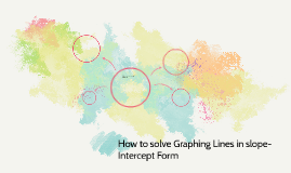 How to solve Graphing Lines in slope-Intercept Form