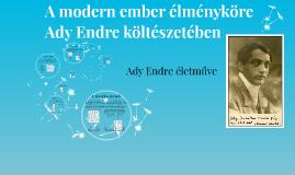 A modern ember élményköre Ady Endre költészetében
