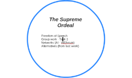 The Supreme Ordeal