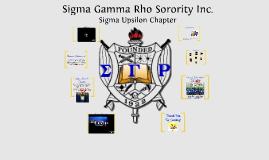 MTG - Sigma Gamma Rho, Sigma Upsilon Chapter