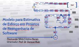 Modelo para Estimativa de Esforço em Projetos de Reengenharia de Software