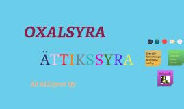 Oxalsyra