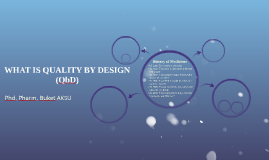 WHAT IS QUALITY BY DESIGN (QbD)