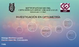 Copia de investigation EN OPTOMETRIA