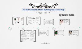 Haute Couture: From Runway to Streetway