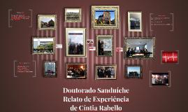 Doutorado Sanduíche - Relato de Experiência de Cíntia Rabell
