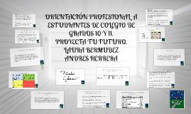 ORIENTACIÓN PROFESIONAL  A ESTUDIANTES DE COLEGIO DE GRADOS