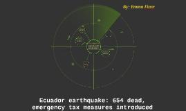 Equador Earthquake
