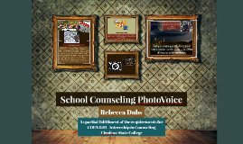School Counseling Photovoice