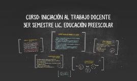Copy of CURSO: INICIACIÓN AL TRABAJO DOCENTE