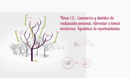 Tema 1.2.- Escenarios y ámbitos de realización personal. Apr