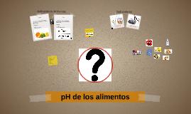 pH de los Alimentos