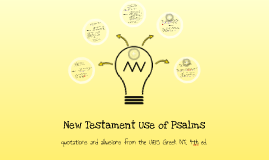 New Testament Use of Psalms - References