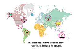 Los tratados internacionales como fuente de derecho en Méxic