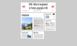 UE104 - Médias et enseignement de l'histoire, géographie et