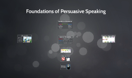 Foundations of Persuasive Speaking (CH 15)