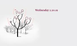 Wednesday 2.20.19