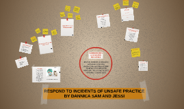 RESPOND TO INCIDENTS OF UNSAFE PRACTICE