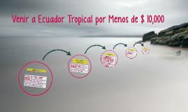 Come to the Tropical Ecuador