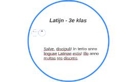 Latijn - 3e klas