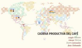 CADENA PRODUCTIVA DEL CAFÉ