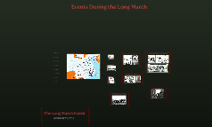 Events During the Long March