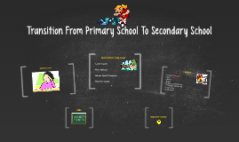 Copy of Transition From Primary School To Secondary School