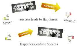 Success leads to Happiness
