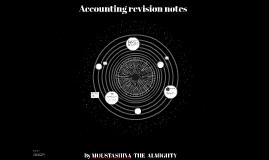 Accounting revision notes