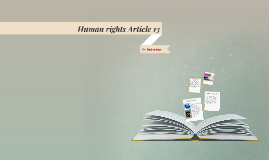 Human rights Article 13