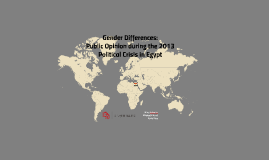 Gender Differences in 2013 Egypt Public Opinion