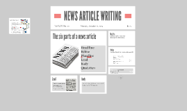 NEWS ARTICLE WRITING