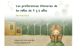 """TFG """"Las preferencias literarias de los niños de 5 y 6 años"""""""