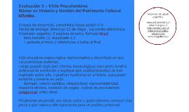 Evaluación 2 -- Chile Precolombino