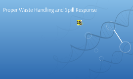 Proper Waste Handling and Spill    Response