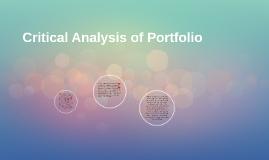 Critical Analysis of Portfolio