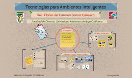 Tecnologías para Ambientes Inteligentes