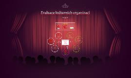 Evaluace kulturních organizací