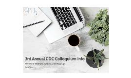 3rd Annual CDCColloquium