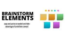 Free Brainstorming Elements by Robert Fenton