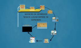 MANEJO DE RESIDUOS SEGÚN LUGAR DONDE SE GENEREN