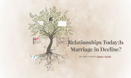 Relationships Today:Is Marriage in Decline?