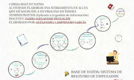 BASE DE DATOS: SISTEMA DE REGISTRO DE EMPLEADOS