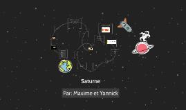 Saturne. Par: Yannick et Maxime