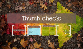 Thumb check: