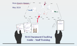ISAS Document Checking Guide - Staff Training