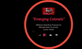 Emerging Colonels
