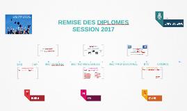 REMISE DES DIPLOMES 2017