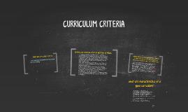 Copy of WHAT ARE CURRICULUM CRITERIA?