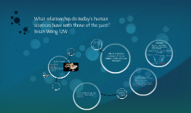 What relationship do today's human sciences have with those